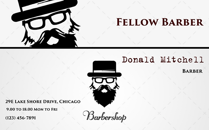 barber salon card template