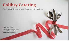 Catering business cards templates download print catering business cards reheart Images