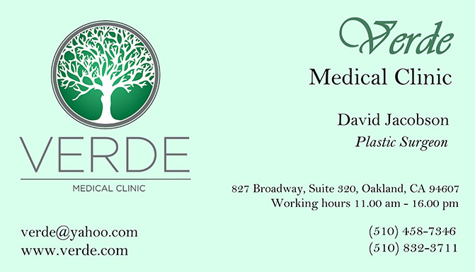 traditional business card with logo - Doctor Business Card