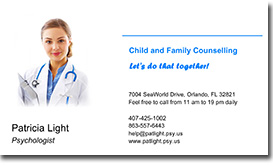 Doctor's business card with photo