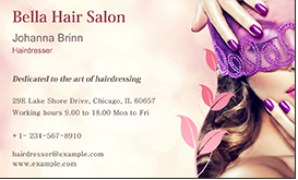 hair salon card template