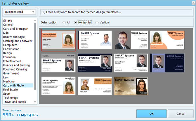 Gallery of ID card templates