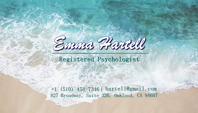Artistic business card for a psychologist