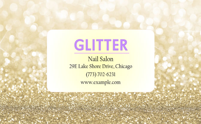 Nail Salon Business Cards Get Ready Made Card Templates