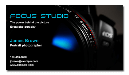 Business Card For Photo Studio Choice Image - Card Design ...