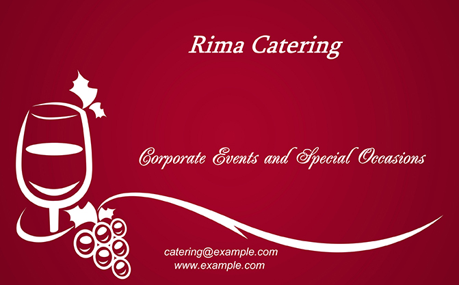 Catering business cards templates download print classic business card design reheart Images